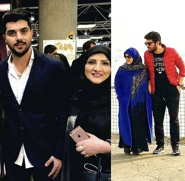 سینا مهراد در کنار مادرش /عکس
