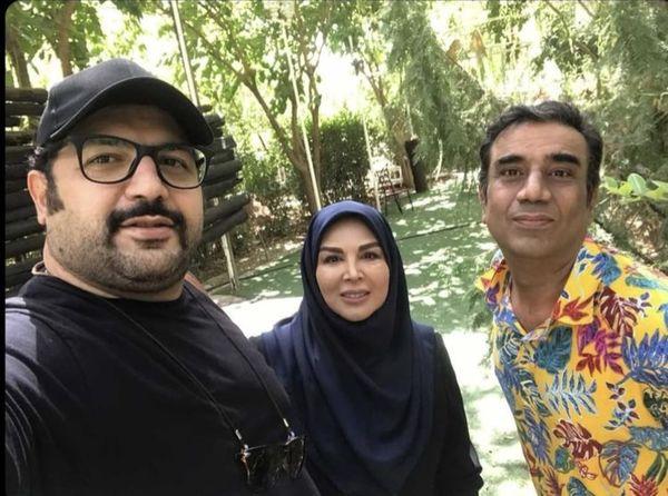 سلفی شهره سلطانی و همکارانش /عکس