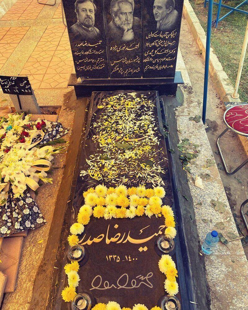 سنگ مزار دکتر حمیدرضا صدر نصب شد