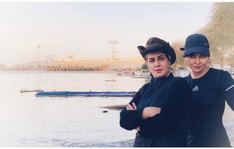 تیپ اسپرت فقیهه سلطانی و رفیقش /عکس