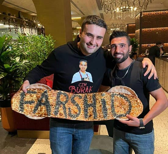فرشید اسماعیلی در کنار بوراک آشپز معروف ترکیه ای+عکس