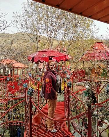 خودنمایی بهاره رهنما در باغ پاییزی /عکس