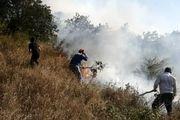 مهار آتش سوزی جنگلهای ارسباران با حضور گسترده نیروهای مردمی