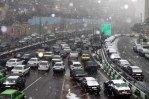 ترافیک صبحگاهی در تهران با بارش برف/ ترافیک افزایش می یابد
