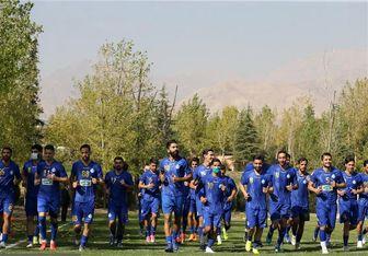 گزارش تمرین امروز استقلال/ غیبت ملی پوشان و دو بازیکن کرونایی