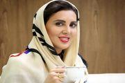 «لیلا بلوکات» با چادر گل گلی درکنار فرزاد حسنی/ عکس