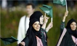 حضور زنان عربستانی برای نخستینبار