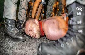 سرکوب شدید معترضان توسط پلیس اسرائیل+فیلم