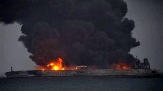 تکاوران ارتش در انتظار کاهش حجم آتش/ جدیدترین تصویر از وضعیت نفتکش سانچی