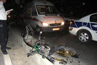 واژگونی موتورسیکلت در بزرگراه شیخ فضل الله فاجعه آفرید