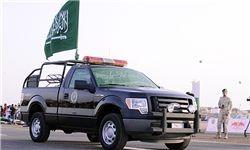 آتشسوزی خودروی زرهی گارد ملی عربستان