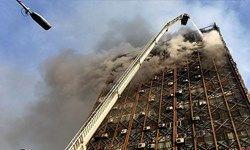 انفجار دو مخزن سوخت در بالای ساختمان پلاسکو