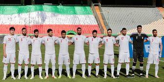 ورود تیم ملی فوتبال ایران به کیش