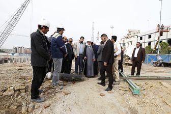 تلاش شبانه روزی مهندسان و کارگران ایرانی در اجرای صحن حضرت زینب (س)