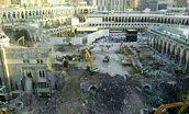 """یک بنای تاریخی در """" باب العمره """" کعبه فروریخت"""