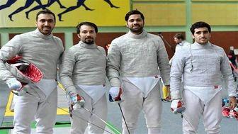 اولین تمرین مشترک تیم ملی شمشیربازی ایران و ۳ کشور اروپایی