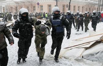پلیس کی یف ۵۰ معترض را بازداشت کرد