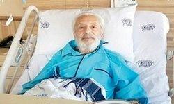 علی نصیریان بر بالین جمشید مشایخی در بیمارستان +عکس