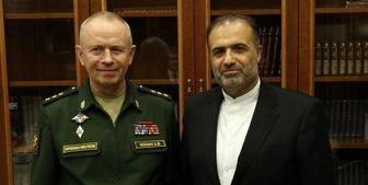 دیدار سفیر ایران با معاون وزیر دفاع روسیه