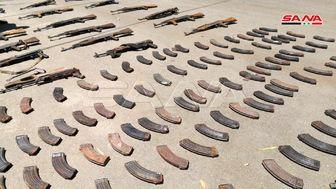 کشف مقادیر زیادی سلاح ساخت غرب از مخفیگاه تروریست ها در سوریه+ تصاویر