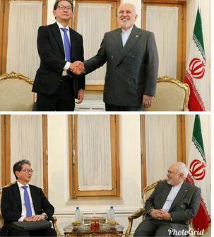 دیدار معاون ارشد وزارت خارجه ژاپن با ظریف