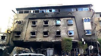 آتش سوزی در هتلی در استان کربلا+ تصاویر