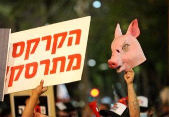 راهاندازی مجدد تظاهرات صهیونیستها در برابر منزل نتانیاهو