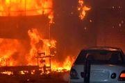 بندر عبدالله کویت در آتش