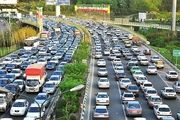 وضعیت ترافیک معابر بزرگراهی تهران در اولین روز خرداد ماه ۱۳۹۸
