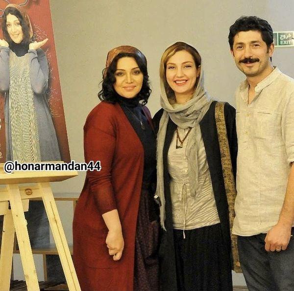 الهام پاوه نژاد در کنار حدیث میرامینی و همسرش + عکس