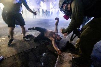 درگیری شدید نظامیان امریکایی با معترضان در پورتلند+عکس