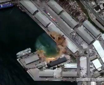 تصاویر ماهوارهای جدید از انفجاربیروت /فیلم