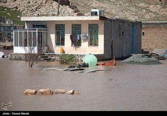 وقوع سیلاب و آبگرفتگی در برخی نقاط استان کرمانشاه