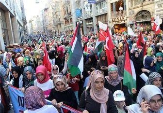 تظاهرات مردم ترکیه در حمایت از غزه + تصاویر