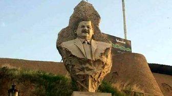 حذف مجسمه جلال طالبانی از قلعهای در کرکوک