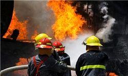 آتش سوزی در خانهای مملو از ضایعات