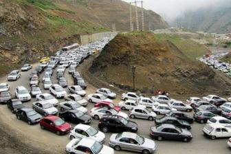 آخرین وضعیت تردد در جاده های کشور/ ترافیک نیمه سنگین در چالوس