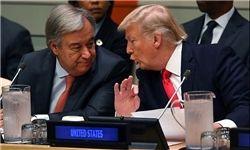 دیدار ترامپ با دبیر کل سازمان ملل متحد