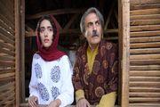 «لادن مستوفی» چادر به سر درکنار آقای بازیگر/ عکس
