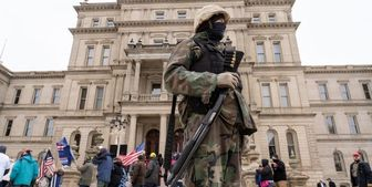 بسته شدن ساختمان کنگره ایالتی میشیگان از بیم تهدیدات