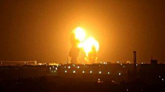 فیلمی جدید از به آتش کشیدن پایگاه عینالاسد آمریکا توسط موشکهای سپاه