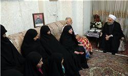 دیدار رئیس جمهور با خانواده شهیدان غضنفری
