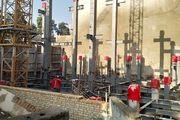بازدید عضو شورای شهر از روند ساخت پلاسکوی جدید