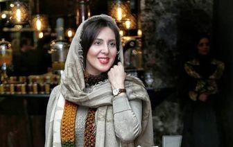 مجری ممنوع التصویر درکنار زوج مشهور سینما/ عکس