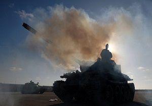 حمله هوایی ارتش ملی لیبی به شهر غریان