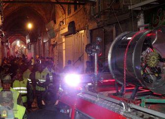 آتش سوزی بازار تبریز بطور کامل مهار شد