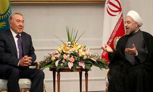 روحانی با رئیسجمهور قزاقستان دیدار کرد