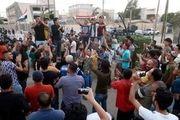 تحصن در بصره عراق در اعتراض به کشته شدن یک معترض