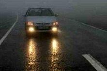 بارش باران در جاده های ۳ استان