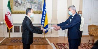 سفیر جدید ایران استوارنامه خود را تقدیم رئیس شورای ریاست جمهوری بوسنی و هرزگوین کرد